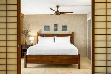 Main bedroom with King bed.