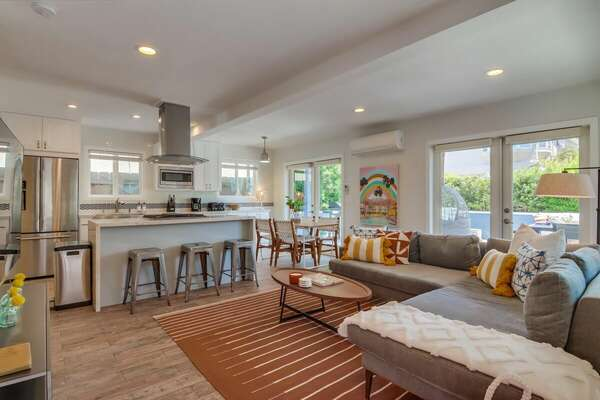 Open Living & Kitchen Area