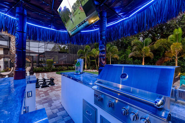 Enjoy the ambiance of the tiki bar