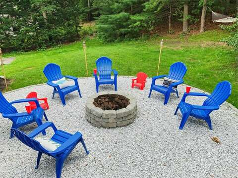 Private yard - 21 Moon Compass Lane Sandwich Cape Cod - New England Vacation Rentals