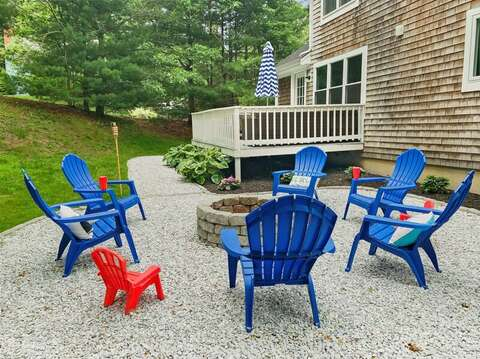 Welcome to Moon Compass Escape!  Fire pit fun for the whole family - even the littles! - 21 Moon Compass Lane Sandwich Cape Cod - New England Vacation Rentals