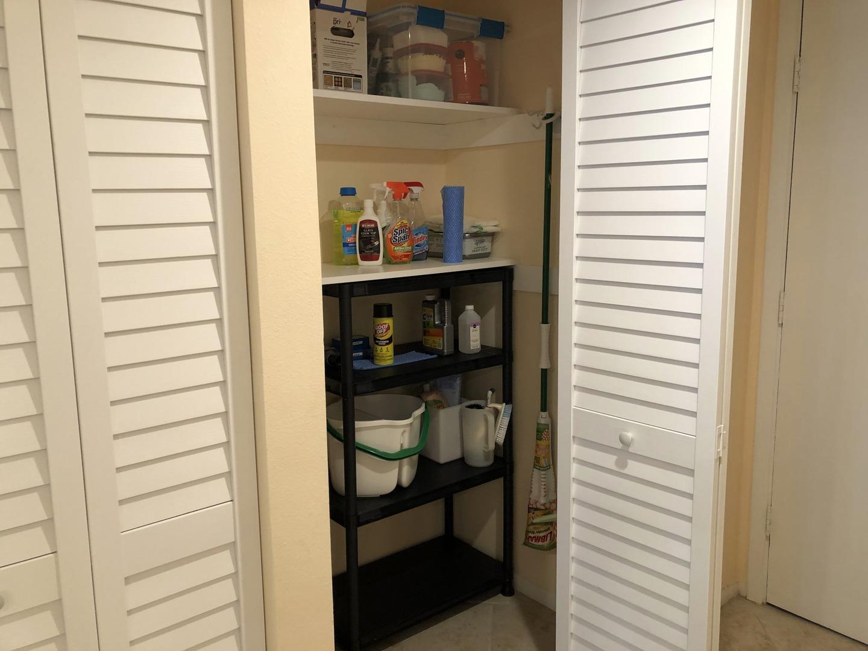 105 Tiffany Place storage closet