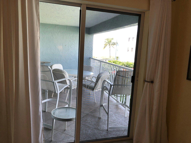 105 Tiffany Place master bedroom view to balcony