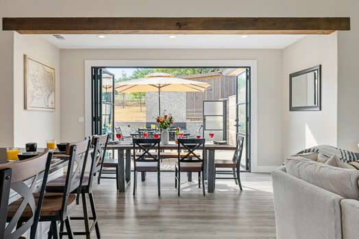 Dining Area with Seating for Up to Seven
