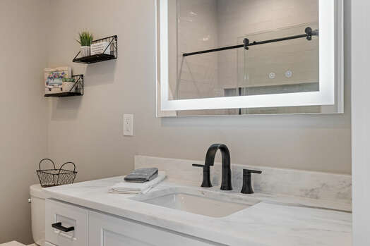 Master Bath 2 Vanity with Lighted Mirror