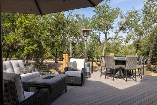 Magnolia Deck with Patio Seating and Fire Table