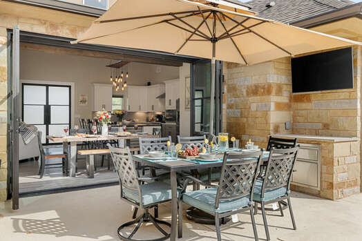 Dine Outside While Watching Your Favorite Sports Team
