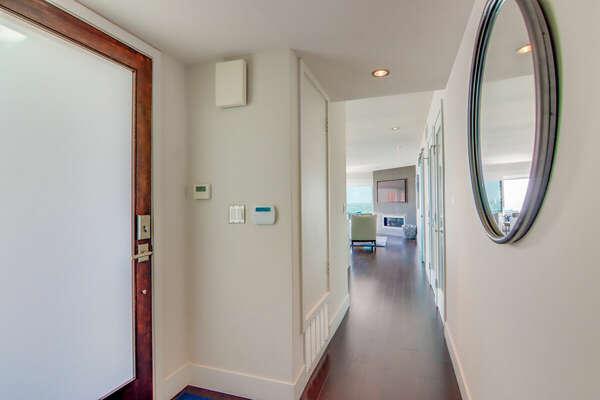 Entry Door - Hallway to Living Area