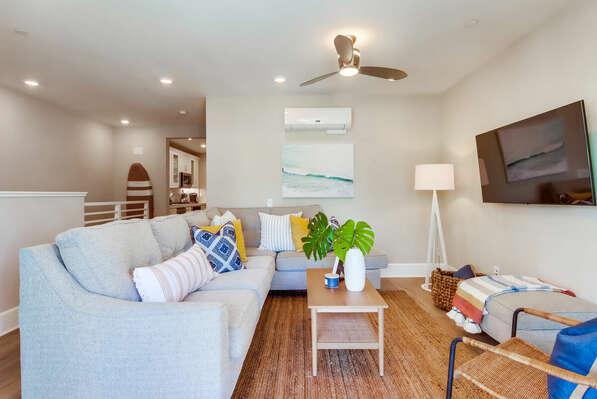 2nd Floor - Living Room w/ Balcony