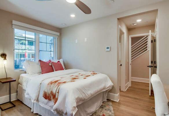 1st Floor - Guest Bedroom w/ Queen Bed, En-Suite, and WFH Desk