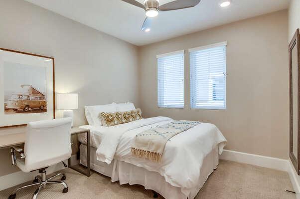 2nd Floor - Guest Bedroom w/ Queen and WFH Desk