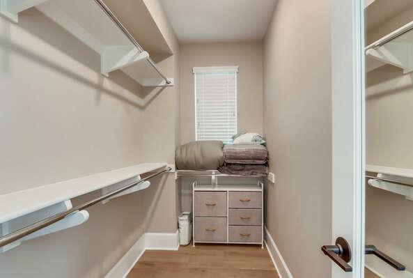 2nd Floor - Master Bedroom Walk-In Closet