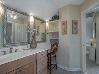 A large vanity/sink area.