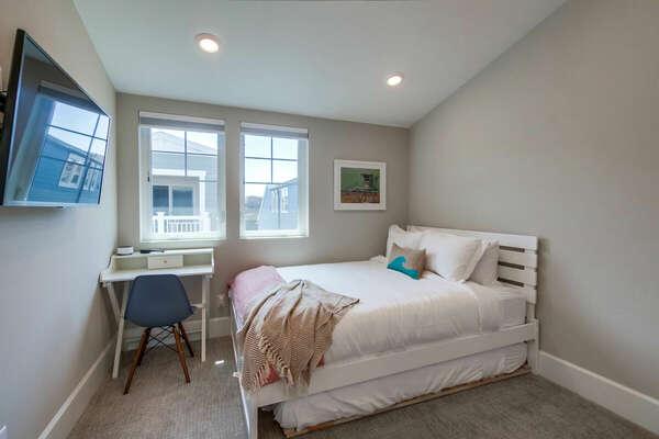 Third Floor - Guest Bedroom - Queen Bed w/ Twin Trundle, Desk, & Walk-In Closet