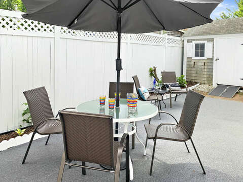 Backyard patio at -25 Zylpha Rd Harwich Port- Cape Cod- New England Vacation Rentals