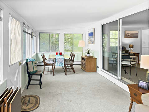 Porch Dining at-25 Zylpha Rd Harwich Port- Cape Cod- New England Vacation Rentals