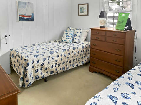 Bedroom #2 with 2 twin beds and dressers-25 Zylpha Rd Harwich Port- Cape Cod- New England Vacation Rentals