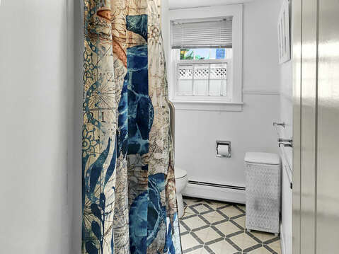 Bath #1 stand up shower, toilet and sink-25 Zylpha Rd Harwich Port- Cape Cod- New England Vacation Rentals