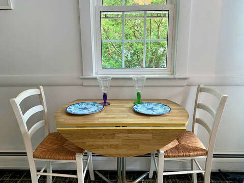 Dining for 2 at-25 Zylpha Rd Harwich Port- Cape Cod- New England Vacation Rentals