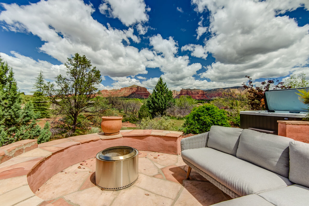 Sit Around the Fire Pit on a Cooler Night While Soaking in the Views