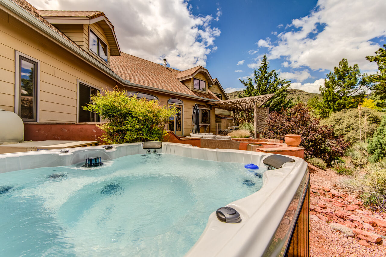Relax in the Hot Tub After a Full Day of Activities