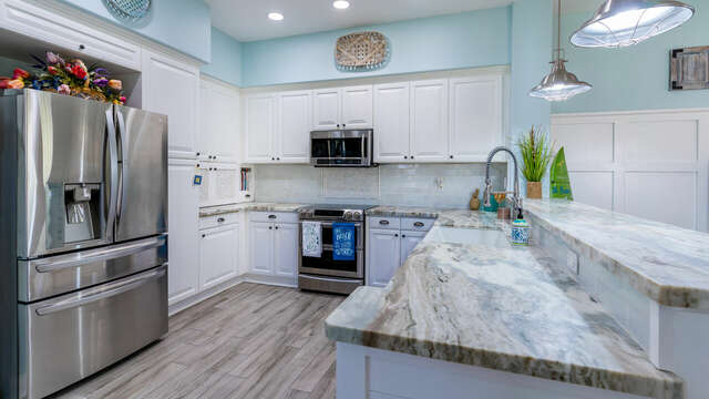 New Stainless Steel Appliances in Remodeled Kitchen