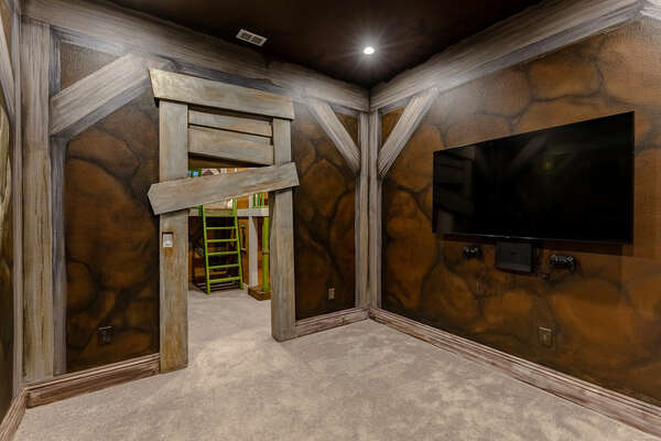 Kids will love their very own room to have fun while playing the Playstation