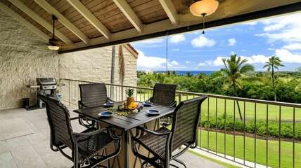 Extra spacious lanai includes outdoor dining table & private BBQ