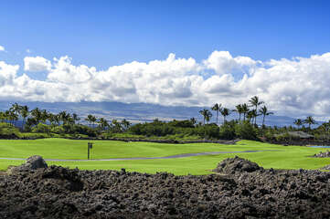 Golf Course and Mountain Views from the Private Lanai at Golf Villas at Mauna Lani H22