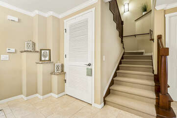 Front Entryway and Staircase to the Second Floor at Waikoloa Hawaii Vacation Rentals