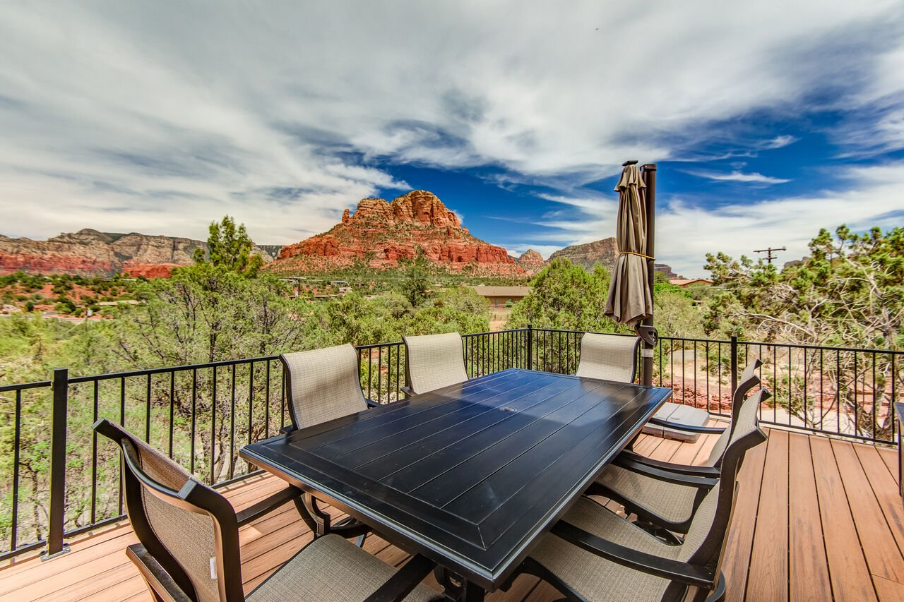 Expansive Trex Deck Surrounded with Stunning Views