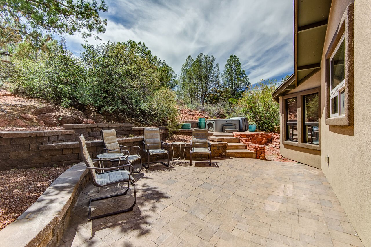 Side Patio with Professional Landscaping
