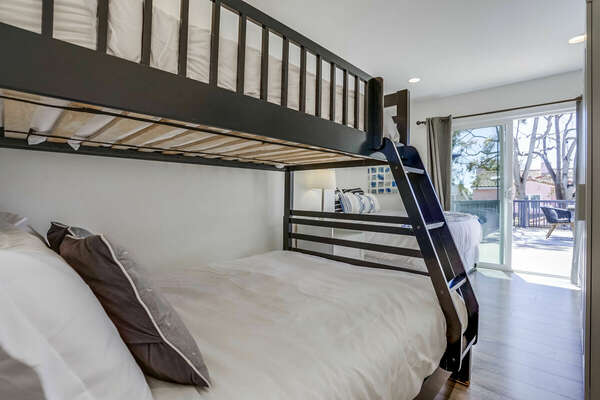 2nd Floor - Bunk Room - Twin over Full + Separate Queen, Direct Access to Deck