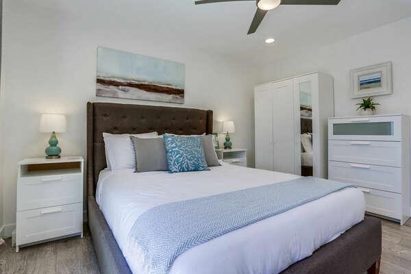 2nd Floor - Queen Bed, Direct Access to Deck