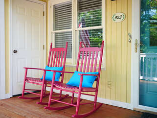 Rock your cares away on the front porch