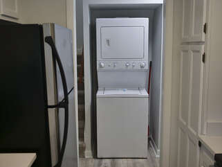 Stacked washer/dryer for your convenience