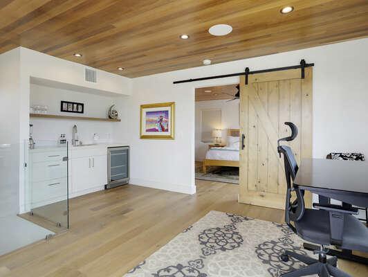 3rd Floor - WFH Space, Kitchenette, Master Bedroom, & Balcony