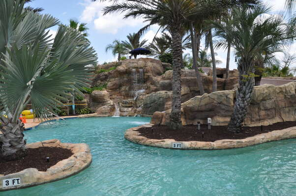 Swim in paradise at the pool located in the waterpark