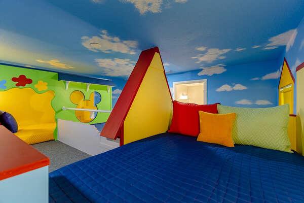 Dream away in this custom-built bedroom