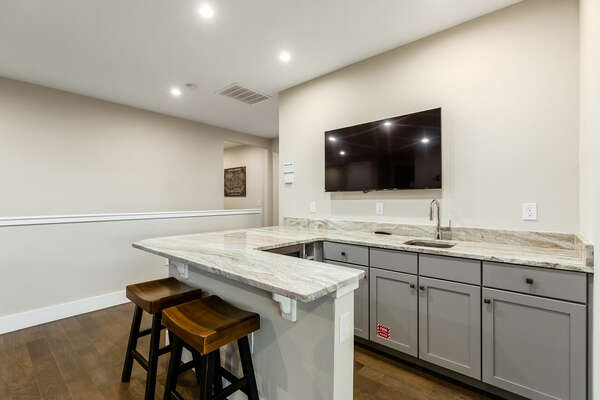 Create a drink at the wet bar