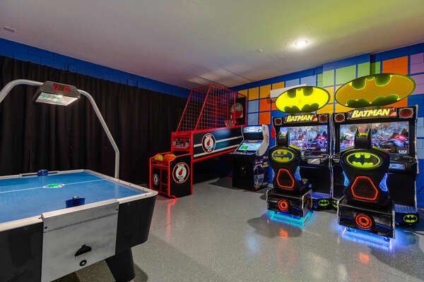 Everyone will enjoy the game room