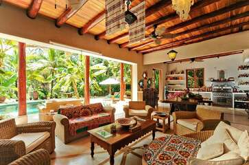 A boho-chic Mexican style villa that can comfortably accommodate up to 11 people