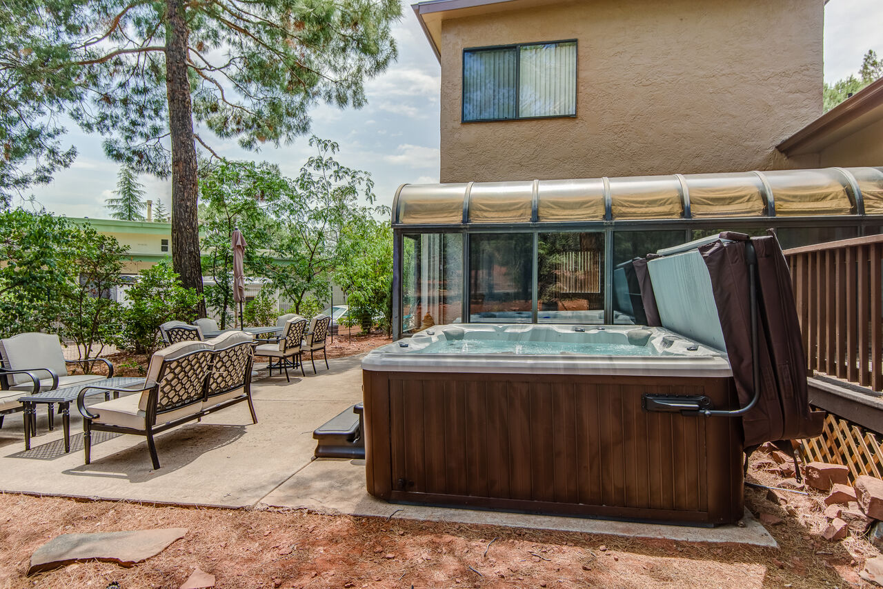 Relax in the New Hot Tub After a Full Day of Activities