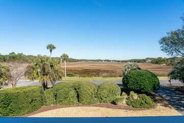 Stunning marsh views from the front