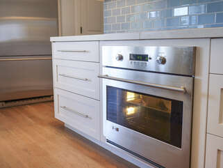 A convection oven and induction cooktop