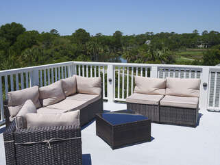 Comfortable seating with beautiful views