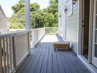 Three guest bedrooms have access to the back deck.