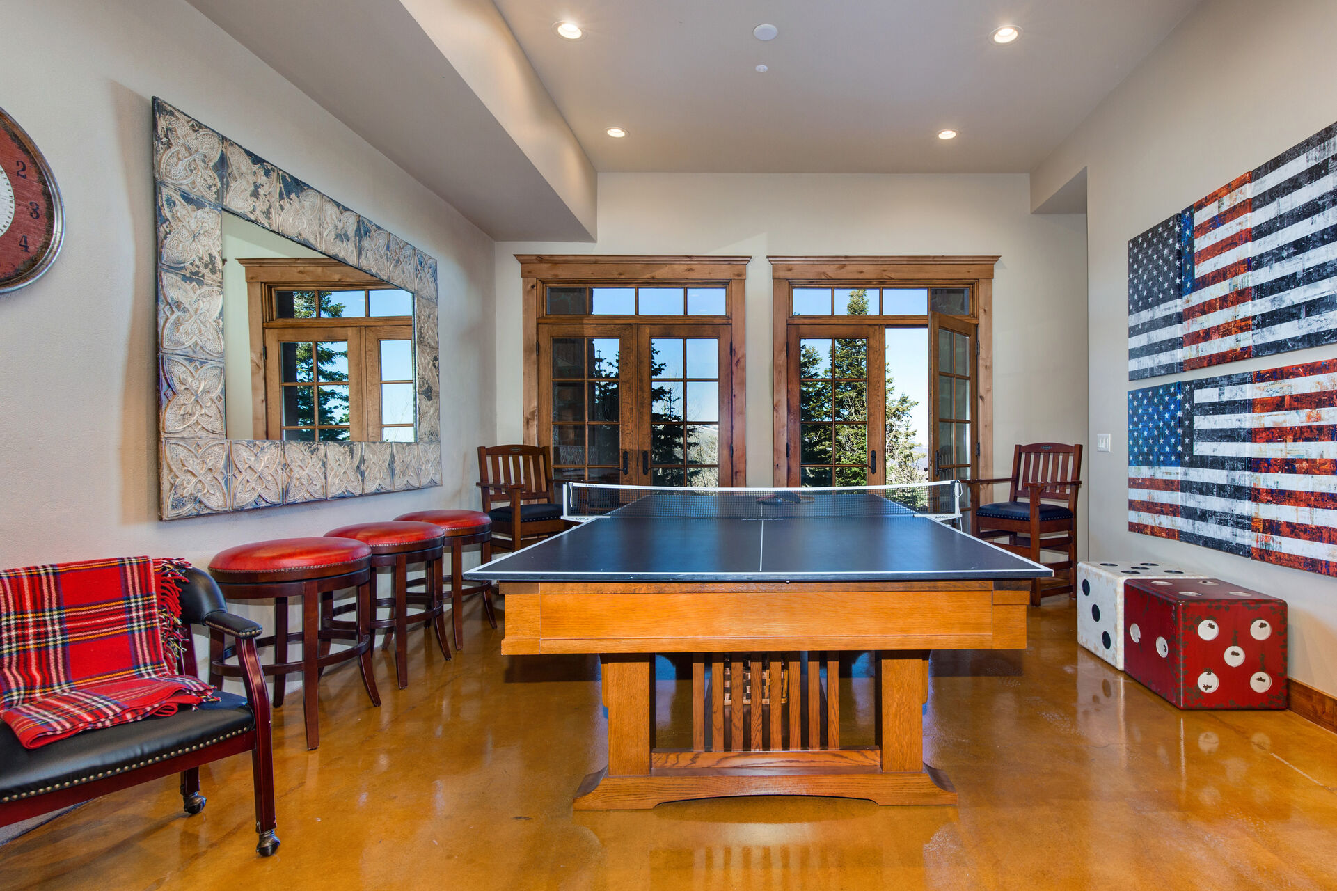 Pool Table with a Ping Pong Table Top