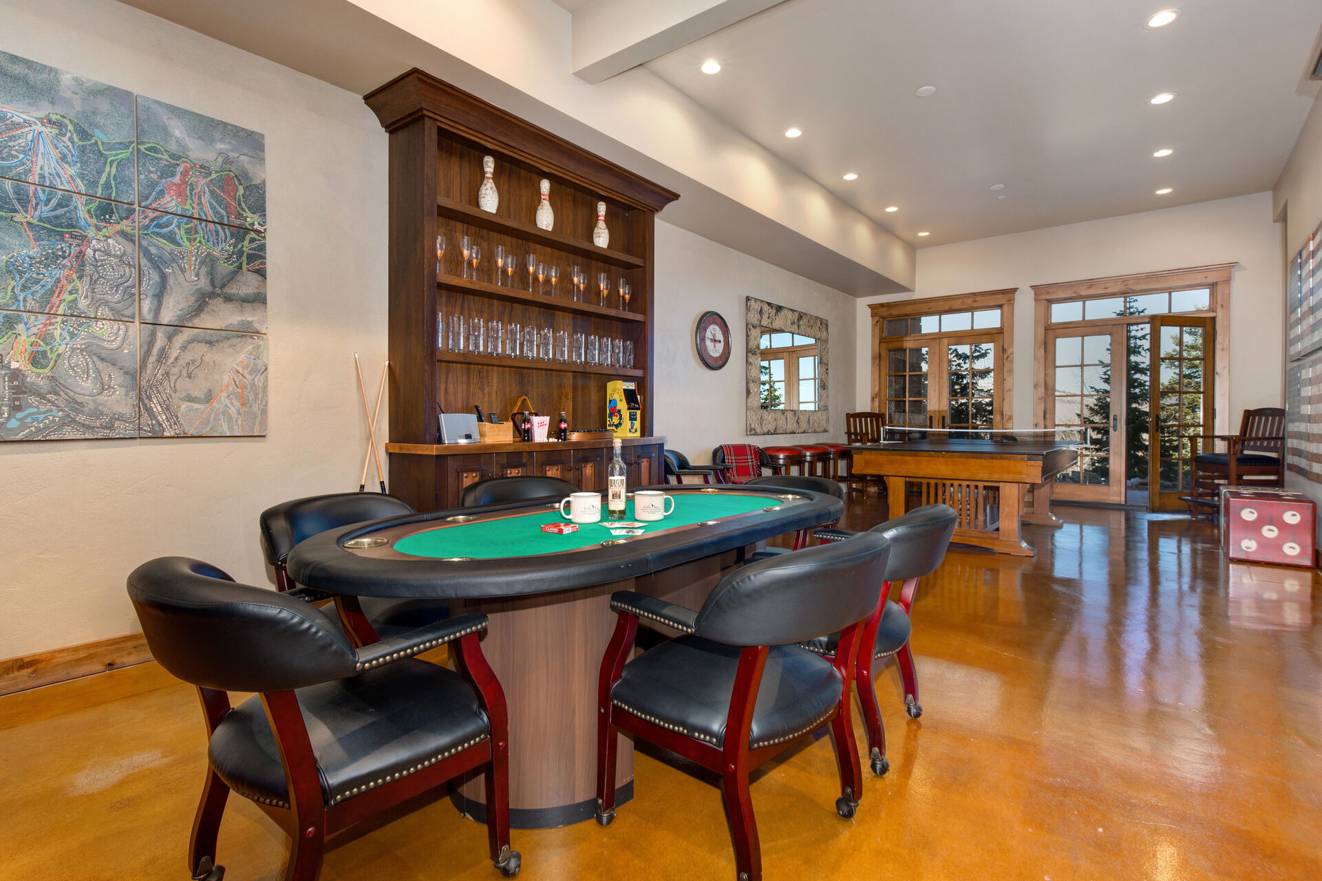 1st Level Game Room - Poker Table