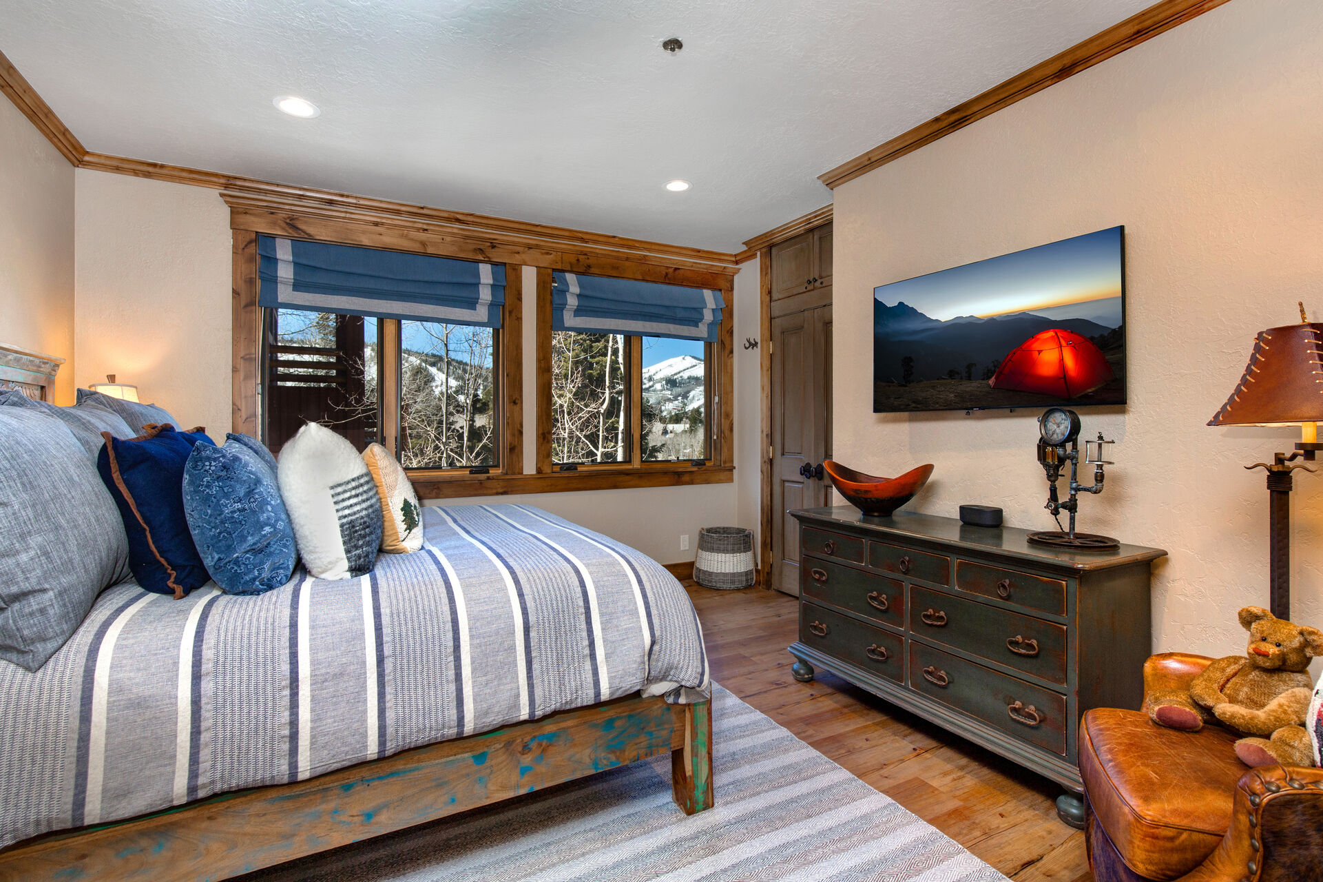Main Level Master Bedroom 3 with a King Bed and a 50